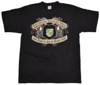 T-Shirt Hüte Dich vor Sturm und Wind und Ossis die in Rage mit Sachsen Wappen G408U