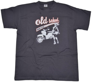 T-Shirt Old School made in GDR Schwalbe von Simson G516