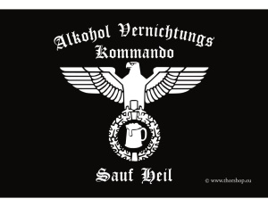Aufkleber Alkohol Vernichtungs Kommando