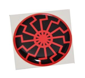 Aufkleber Schwarze Sonne rund/klein schwarz/rot