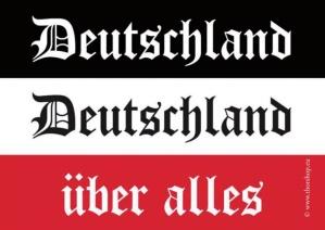 Aufkleber Deutschland Deutschland über alles