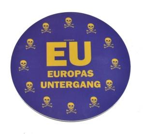 Aufkleber EU Europas Untergang