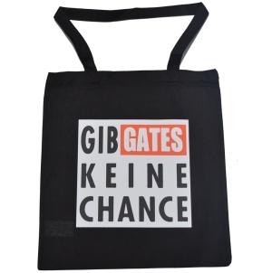 Stoff-Beutel Gib GATES keine Chance G102