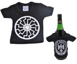 Mini Deko T-Shirt Schwarze Sonne K2