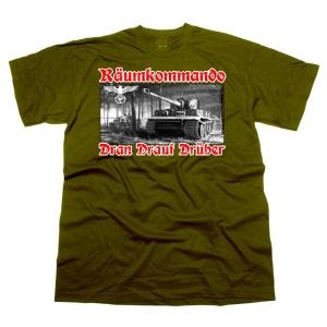 T-Shirt TIGER Räumkommando Dran Drauf Drüber G547