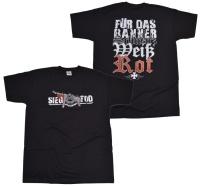 T-Shirt Sieg oder Tod für das Banner schwarz weiß rot