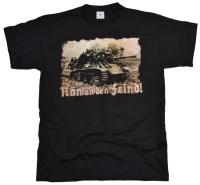 T-Shirt Ran an den Feind! mit Tank Panzer Motiv