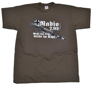 T-Shirt Radio 792 lustiges MG42 Motiv G71U