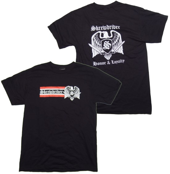 T-Shirt Skrewdriver Honor & Loyalty - RAC T-Shirts ...