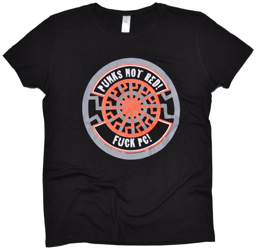 Damen Shirt Punks Not Red! II G540 Black Sun shop bei Thorshop