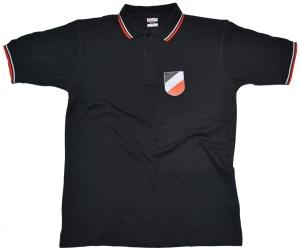 Poloshirt Wappen Kaiserreich schwarz weiß rot K52