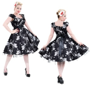 Rock n Roll Kleid Flower H&R London Rockabilly