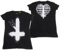 Damen Tshirt Helltoon Heartless