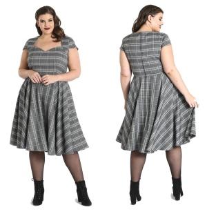 Swingkleid Frostine im Stil der 50iger Jahre Hellbunny Plussize