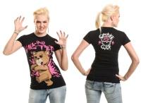 Girl Shirt Walking Teddy Cup Cake Cult