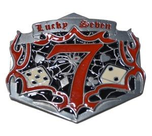 Gürtelschnalle Lucky Seven