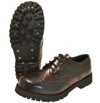 Boots & Braces 4Loch Budapester Schuh in schwarz/burgundy 601105