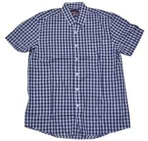Pierre Cardin Button Down Kurzarmhemd blau weiß kariert