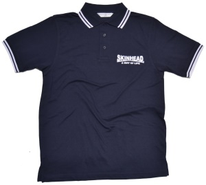 Polo Shirt Skinhead a Way of Life fette Schrift