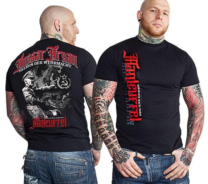 Ansgar Aryan T-Shirt Manteuffel fällt klein aus
