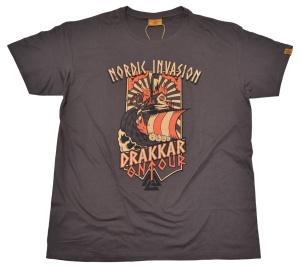 Vikinger Motiv T-Shirt Nordic Invasion