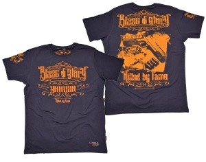 Yakuza Ink T-Shirt Blaze N Glory in dunkelgrau