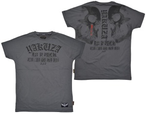 Yakuza Ink T-Shirt Life is Short in battleship grey